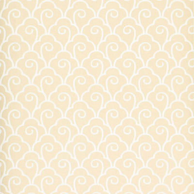 Schumacher Wallcovering - 5001050-Scallop Filigree - Cream