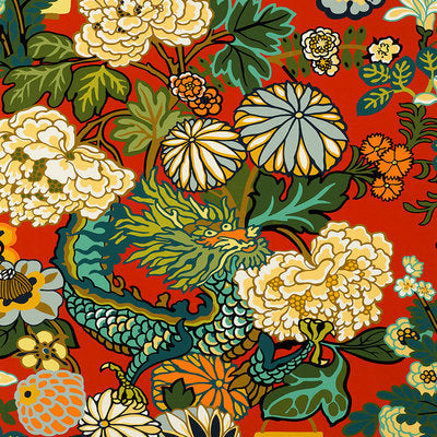 Schumacher Wallcovering - 5001061-Chiang Mai Dragon - Lacquer
