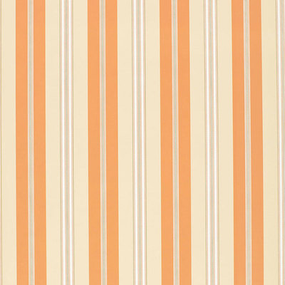 Schumacher Wallcovering - 5002485-Chalon Stripe - Coral