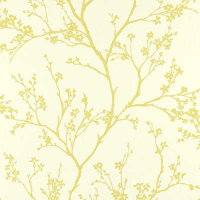 Schumacher Wallcovering - 5003342-Twiggy - Soft Chartreuse