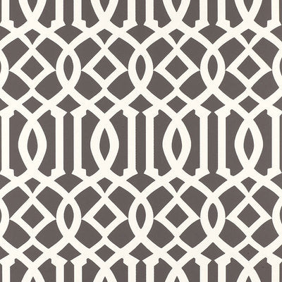 Schumacher Wallcovering - 5003361-Imperial Trellis - Charcoal