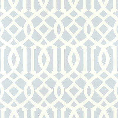 Schumacher Wallcovering - 5003363-Imperial Trellis - Soft Aqua