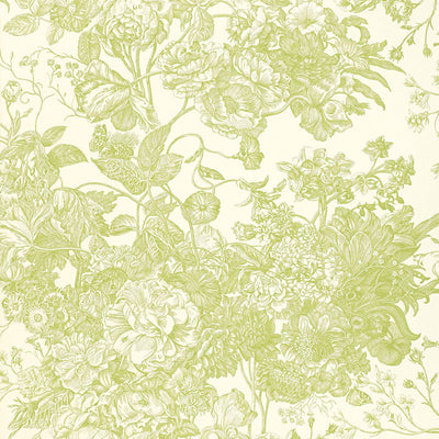 Schumacher Wallcovering - 5004091-Toile Florissante - Peridot