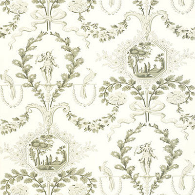 Schumacher Wallcovering - 5004110-Jester Arabesque - Grisaille