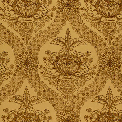 Schumacher Wallcovering - 5004171-Haddon Hall Damask - Umber