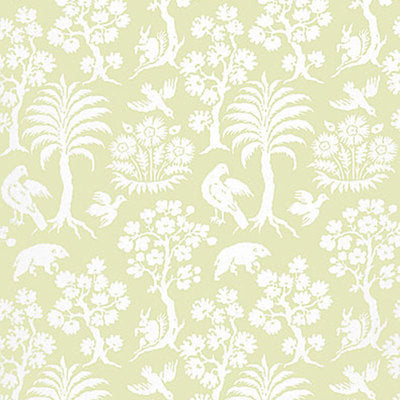 Schumacher Wallcovering - 5004352-Palm Damask - Willow