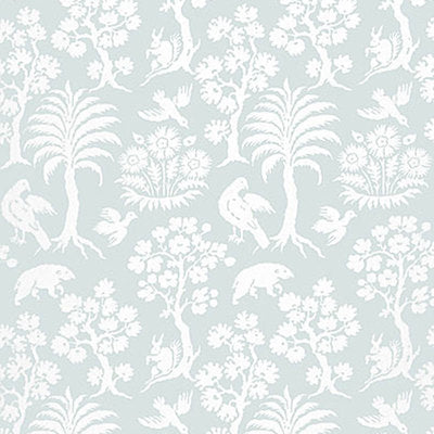 Schumacher Wallcovering - 5004353-Palm Damask - Sky