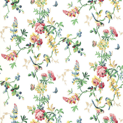 Schumacher Wallcovering - 5004360-Chickadee Floral - Primary
