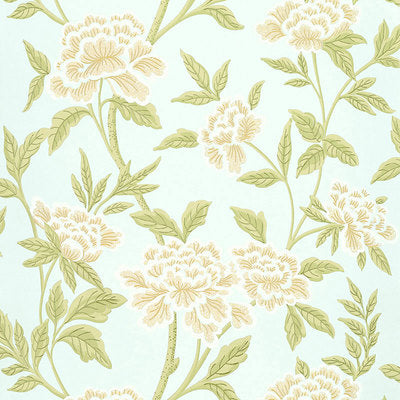 Schumacher Wallcovering - 5004382-Whitney Floral - Aqua