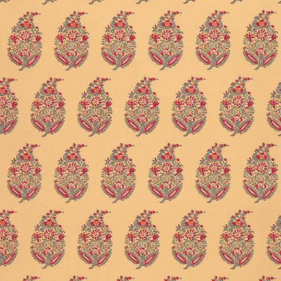 Schumacher Wallcovering - 5004470-Rajasthan Paisley - Jewel