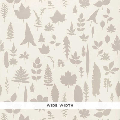 Schumacher Wallcovering - 5005020-Leaves - Platinum