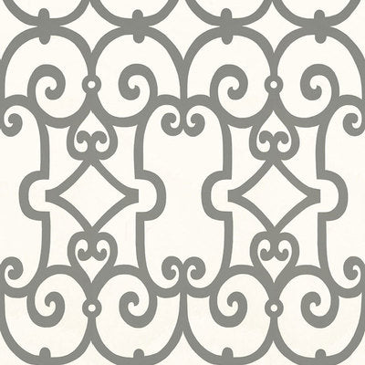 Schumacher Wallcovering - 5005053-Manor Gate - Charcoal