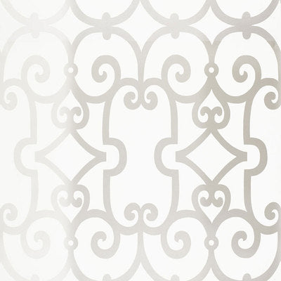 Schumacher Wallcovering - 5005054-Manor Gate - Silver