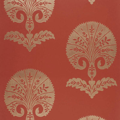Schumacher Wallcovering - 5005083-Ottoman Flower - Paprika