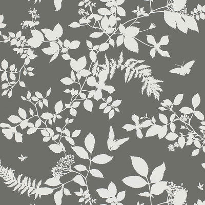 Schumacher Wallcovering - 5005103-Shadow Vine - Charcoal