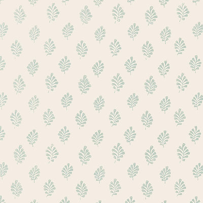 Schumacher Wallcovering - 5005232-Bakara Leaf - Water Blue