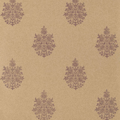 Schumacher Wallcovering - 5005324-Asara Flower - Aubergine