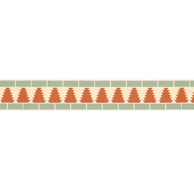 Schumacher Wallcovering - 5006032-Cadiz Mosaic Border - Persimmon