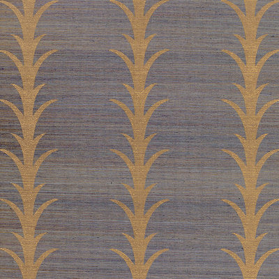 Schumacher Wallcovering - 5006054-Acanthus Stripe - Turmeric