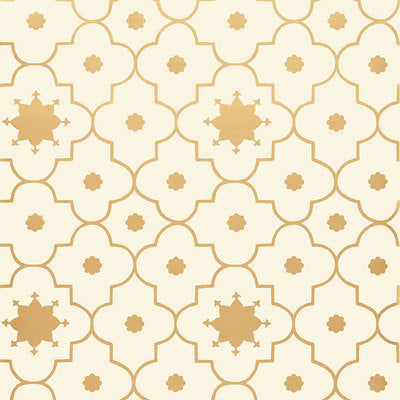 Schumacher Wallcovering - 5006624-Taj Trellis - Burnished Gilt