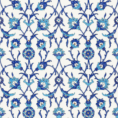 Schumacher Wallcovering - 5006700-Sultan'S Trellis - Peacock