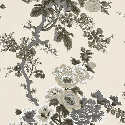 Schumacher Wallcovering - 5006920-Pyne Hollyhock - Charcoal