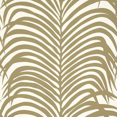 Schumacher Wallcovering - 5006930-Zebra Palm - Khaki