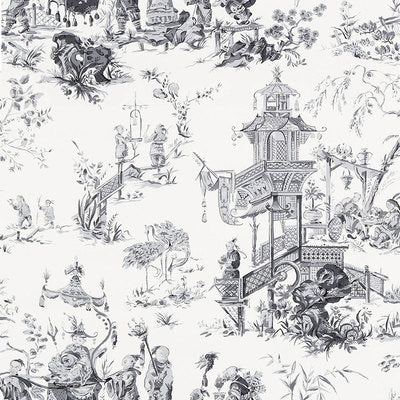Schumacher Wallcovering - 5007000-Chinois - Smoke