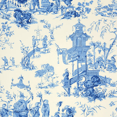 Schumacher Wallcovering - 5007002-Chinois - China Blue