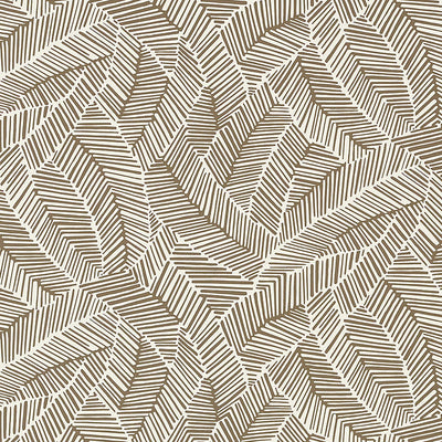 Schumacher Wallcovering - 5007532-Abstract Leaf - Mocha
