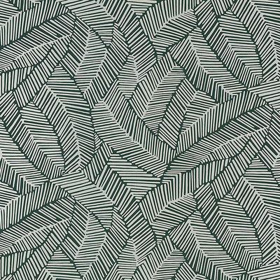 Schumacher Wallcovering - 5007534-Abstract Leaf - Metallic Slate