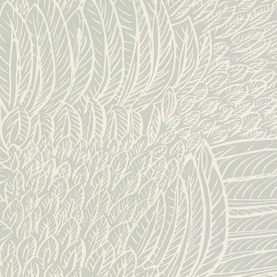 Schumacher Wallcovering - 5007560-Featherfest - Smoke