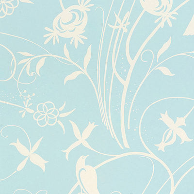 Schumacher Wallcovering - 5007621-Sky Meadow - Light Blue