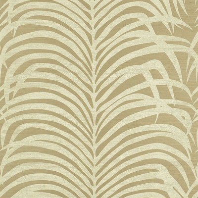 Schumacher Wallcovering - 5008223-Zebra Palm Sisal - Sage