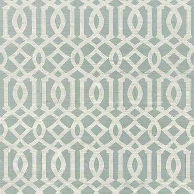 Schumacher Wallcovering - 5008352-Imperial Trellis Sisal - Sky