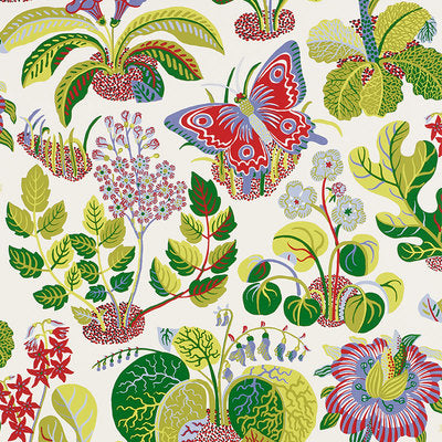 Schumacher Wallcovering - 5008421-Exotic Butterfly - Multi