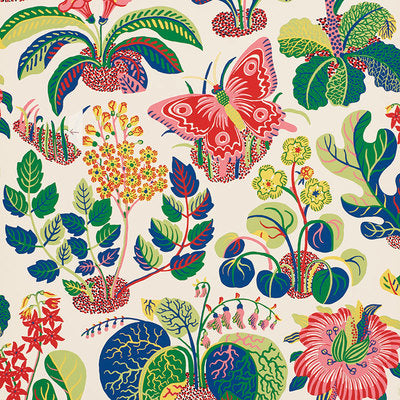 Schumacher Wallcovering - 5008424-Exotic Butterfly - Spring
