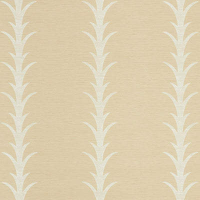 Schumacher Wallcovering - 5008592-Acanthus Stripe Vinyl - Natural