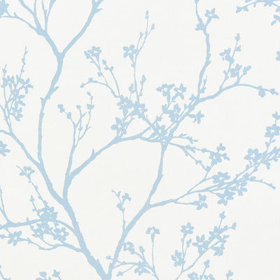 Schumacher Wallcovering - 5008940-Twiggy Paperweave - Sky