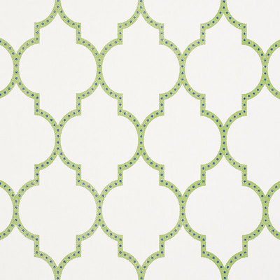 Schumacher Wallcovering - 5009010-Algiers Paperweave - Leaf