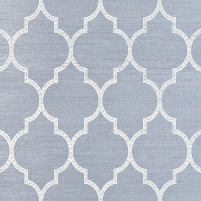 Schumacher Wallcovering - 5009020-Algiers Sisal - Chambray