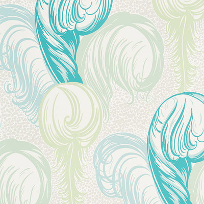 Schumacher Wallcovering - 5009152-Plumes - Peacock