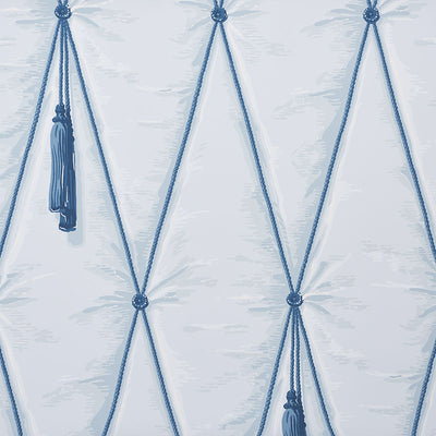 Schumacher Wallcovering - 5009162-Drapery - Blue
