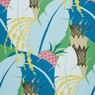 Schumacher Wallcovering - 5009170-Ananas - Peacock