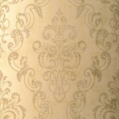 Schumacher Wallcovering - 529123-Giovan Damask - Taupe