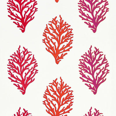 GREY WATKINS FABRICS-GW 000127204-CORAL REEF EMBROIDERY-PASSION FRUIT