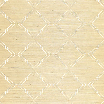 SCALAMANDRE WALLCOVERING-SC 0002WP88383-MONROE EMBROIDERED GRASSCLOTH-PAPYRUS