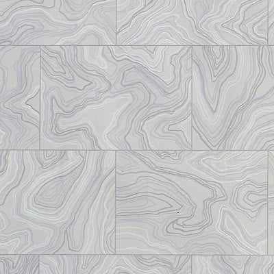 Old World Weavers Wallpaper - HERMITAGE  - GREY AGATE