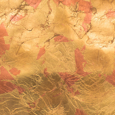 Scalamandre Wallcovering - WLCRFL42602 - EAST CLOUDS - BRASS/COPPER