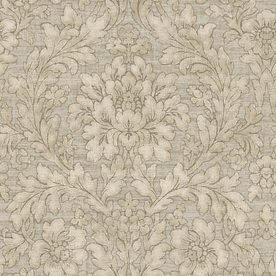 SCALAMANDRE WALLCOVERING-WMAMF000401-PAINTED FLOWERS-SILVER